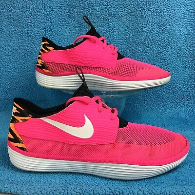 sports shoes 91ff3 6b268 NIKE SOLARSOFT MOCCASIN Pink Flash White-Black-Atomic Orange 555301 618  men s 11