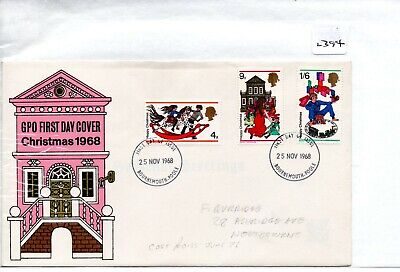 GB - FIRST DAY COVER - FDC - (2394) SPECIALS -1968 - Christmas