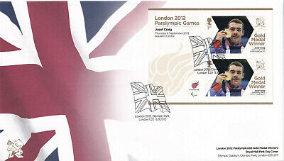 (25195) GB FDC Josef Craig London Paralympic Games minisheet 2012