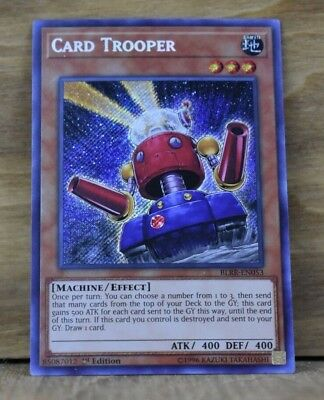 x 1 Yugioh! Card Trooper - BLRR-EN053 - Secret Rare - 1st Edition Near Mint