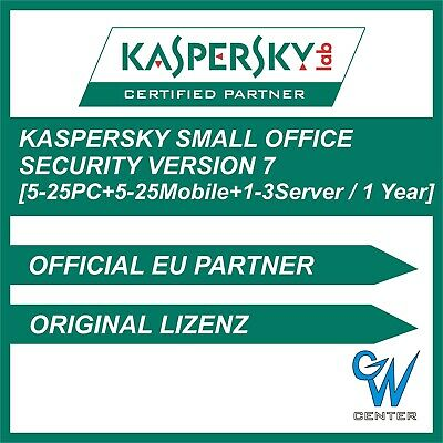 Kaspersky Small Office Security 5 [5-25 PC / 5-25 Mobile + 1-3 Server | 1 Jahr]