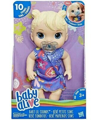Baby Alive Baby Lil Sounds (Blonde Girl) Officially Licensed NIB/Sealed