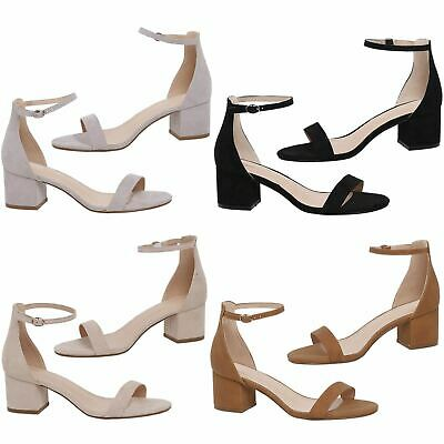 b51f80e563 Diana Womens Low Mid Block Heel Peep Toe Ankle Strap Buckle Sandals Casual  Style