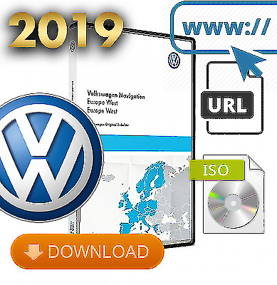 HOT 2019 Sat Nav Update for Volkswagen RNS510/810 V16 West Map ISO DIGITAL FILE