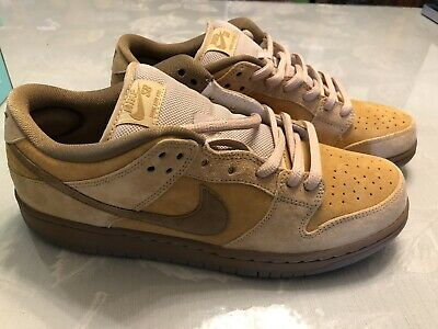 newest 459e8 4f1ad Nike Sb Dunk Low Trd Qs Wheat Flax Reverse Forbes 2 Size 10.5 US