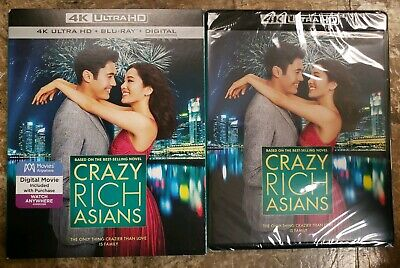 Crazy Rich Asians (4KUHD + Blu Ray + Digital 2018) With Slipcover