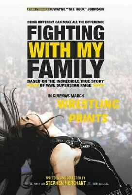 Wwe Nxt Fighting With My Family Movie Poster A4 Print 230Gsm Wall Art Deals...