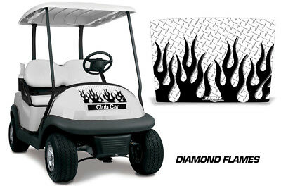 Club Car Precedent i2 Golf Cart Hood Graphic Kit Wrap Decal 08-13 DIAMOND FLAME