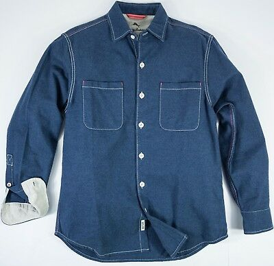 Men s Tommy Bahama size SMALL S Seaside Flannel Long Sleeve Button Up Shirt  NWT 2b3d12edd