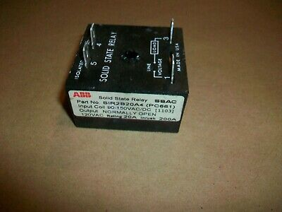 "GB2400-502 Gordos Arkansas Solid State Relay 5VDC 25A 120VAC 94371305 .250/"" QC"