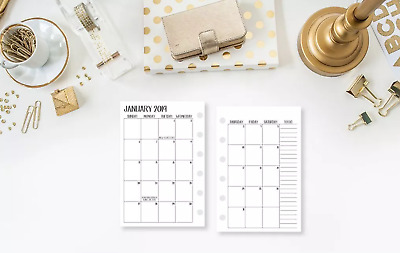 2020 Calendar Monthly Planner FITS Louis Vuitton Agenda LV Small PM insert +more
