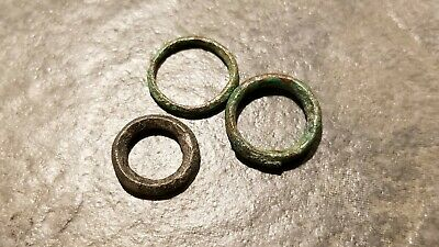 Ancient Celtic PROTO-MONEY Lot of 3, Bronze Ring Type, 6th - 4th Century BC