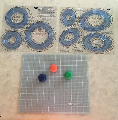 Creative Memories Custom Cutting System - Mat & 3 blades, circle & oval patterns