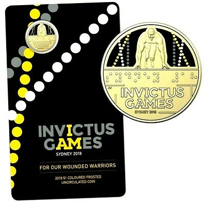 Australia  2018  Invictus Games Sydney $1  Uncirculated Carded Coin  #2