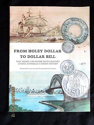 ~FROM HOLEY DOLLAR TO DOLLAR BILL - COMMONWEALTH BANK - 1960's - VGC~