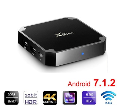 X96mini Smart Android 7.1 TV Box S905W Quad Core H.265 2GB / 16GB WiFi Media BM