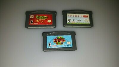 "Gameboy Advance Games bundle of MARIO PINBALL LAND, FROGGER""S ADVENTURE, SPIRIT"