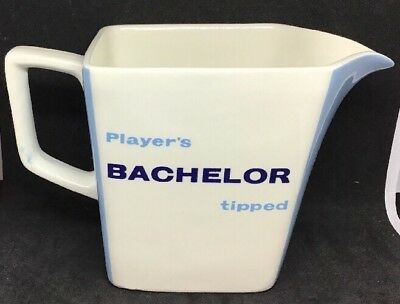 Vintage 60's Breweriana Player's Bachelor Tipped Water Jug, Pub, Club, Man-Cave
