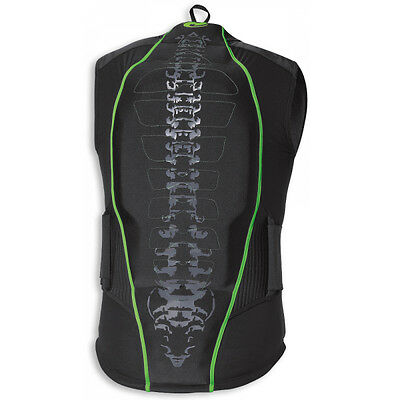 Held Shelter II Black / Green Motorcycle Mens Protector Waistcoat All Sizes