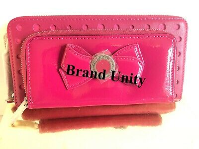 Mimco Leather MIM Bow Wallet Clutch Purse Brand New Pink