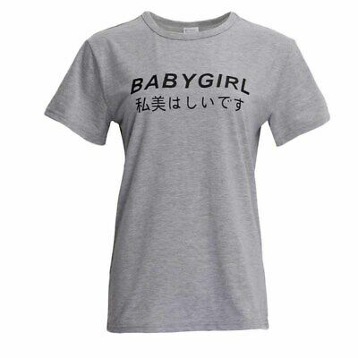 Unisex Simple English Letter Women Men Short Sleeve T-shirts Tee Shirt Tops 8C