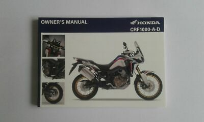 CRF 1000-A-D OWNER'S MANUAL (English version) Africa Twin