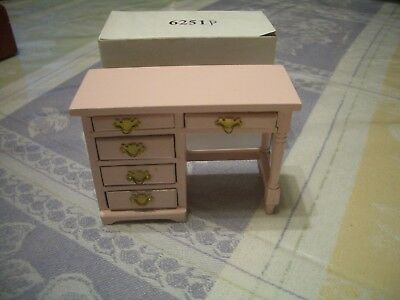 Concord Dollhouse Pink Desk (Assorted Colors In Diff Listings) #6251P M/0B!!