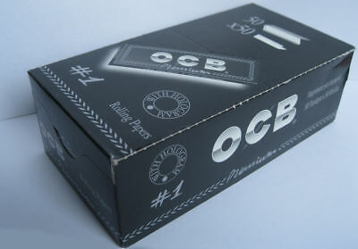 OCB Premium No1 rolling paper regular size 70mm Fuil Box, Delivery from LA USA