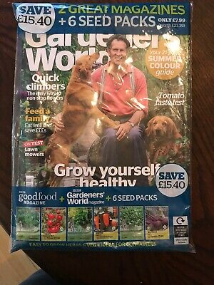 Gardener's World Magazine March Issue + Good Food March Issue & 6 Seed Packs