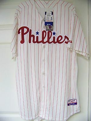 daebdb726 MLB Philadelphia Phillies Pinstripe On Field Authentic Cool Base Jersey  Shirt 52