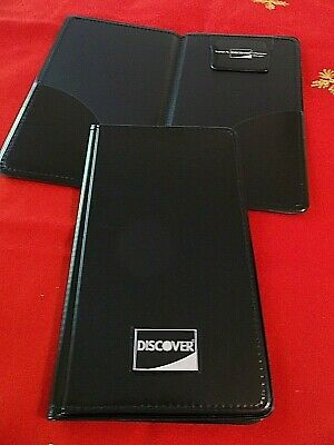 *FREE SHIPPING* New 10 Discover Credit Card Black Double Panel Check Presenters