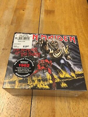 Iron Maiden- Number Of The Beast CD Box Ltd Figurine Patch remastered Brand NEW