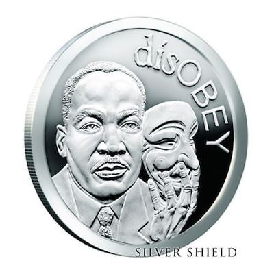 2017 Martin Luther King disOBEY Series Silver Shield 1 oz  Proof  W/Box  And COA