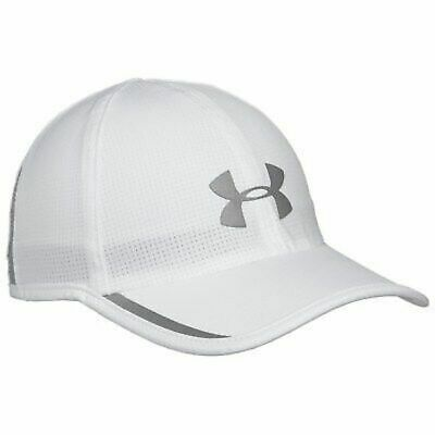 c4d6fa623a0 Men Under Armour Armourvent Shadow Upf30 Reflective Running Cap Hat White  New