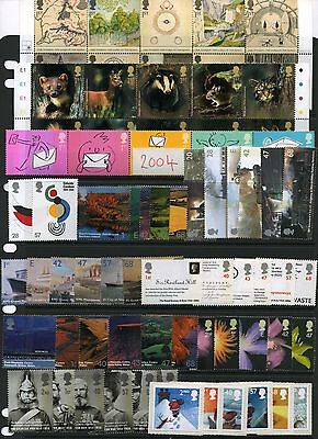 GB 2004 Commemorative Stamps~Year Set~Unmounted Mint~no m/s~UK Seller