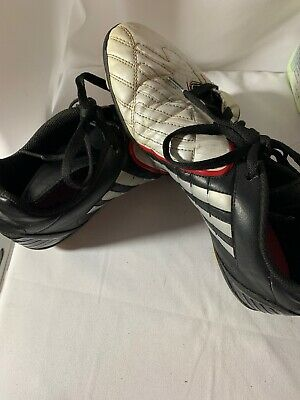 low priced 082ce a9256 Adidas Traxion SoccerFootball Cleats Mens Size 9 Black, White, ...