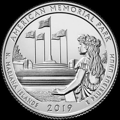 2019 P,D,S Northern Mariana Islands American Memorial Park 3 Quarter (Presale)
