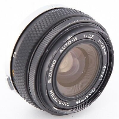 Olympus 28mm f3.5 G.Zuiko Auto-W manual focus lens OM mount