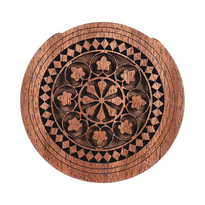 Hot Acoustic Guitar Feedback Buster Fire Soundhole Cover Sound Buffer Wood L5K0