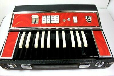 1960's Vintage Electric Keyboard RHEEM KEE BASS  Suitcase Instrument ( RARE )