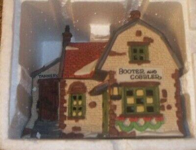 Department 56 Dickens Village Series Booter and Cobbler in Misprint box RARE