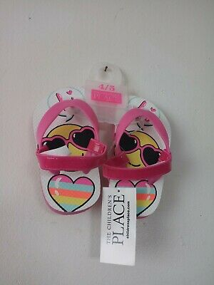 02d986a38fa8 The Children s Place Flip Flops for Little Girls Toddler Emoji Sandals ...