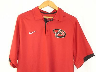 3b497ef6 Arizona Diamondbacks Nike Dri-Fit Men's MLB Polo Red Shirt Size L NWOT