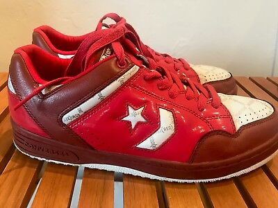 CONVERSE WEAPON LOW homme rouge pointure 43 9,5 cuir + sac