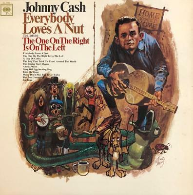 """Johnny Cash Hand Signed Autograph Lp Album """"everybody Loves A Nut"""""""