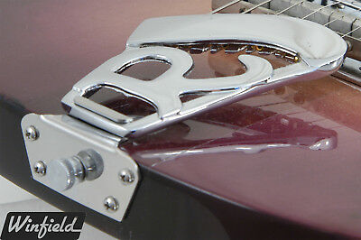 Trapeze-to-R tailpiece adapter bracket made for Rickenbacker guitars