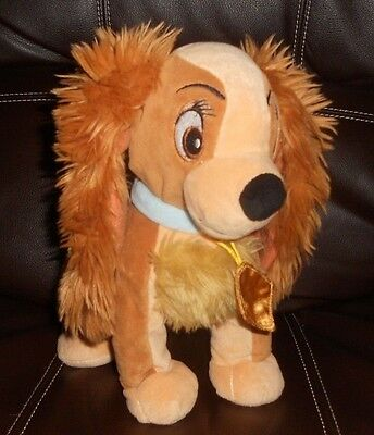 """Disney Lady and the Tramp Plush Doll - 6"""" Small Brown Dog Stuffed Toy"""