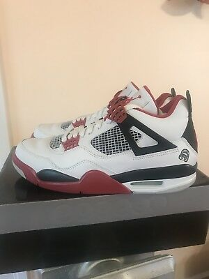 buy popular 76f7b 38249 Nike Air Jordan 4 IV Mars Blackmon 2006 Fire Red White Size US 9.5 Retro