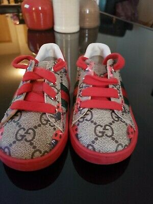 ffb42645ff9 GUCCI KIDS SHOES   Lace-Up W T Green   Red Web  GG Logo   Box  Dust ...