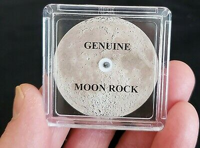 BASIC EDITION- AUTHENTICATED LUNAR METEORITE- 5mg Moon Rock Display+Certificate